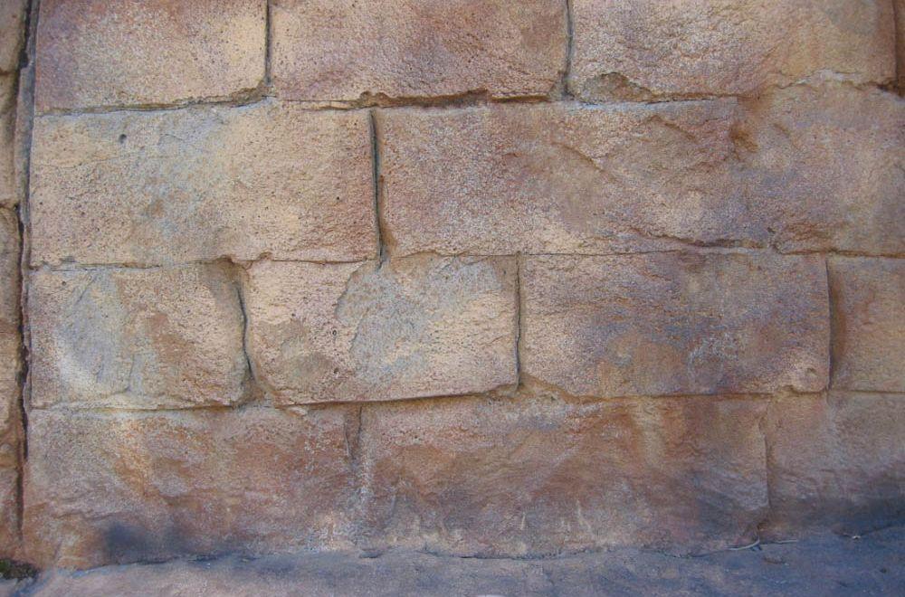 SHOTCRETE SANDSTONE BLOCK WALLS