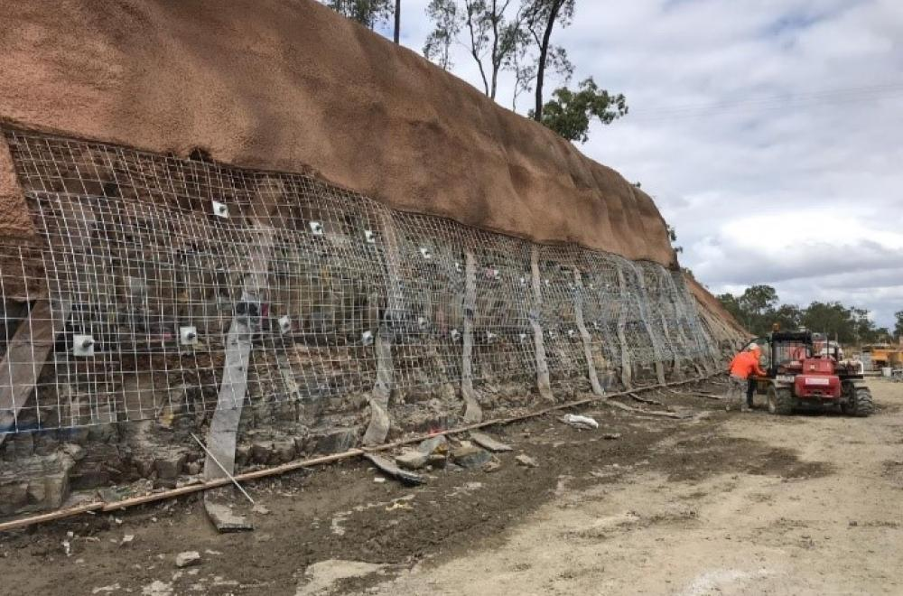 Mesh and Bolts with Shotcrete